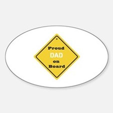 Proud Dad on Board Oval Decal