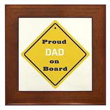 Proud Dad on Board Framed Tile