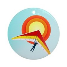 Hang Glider Ornament (Round)