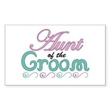 Aunt of the Groom Rectangle Decal