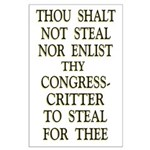 35x23 Thou Shalt Not Steal Poster