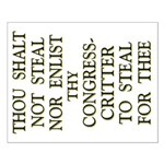 16x20 Thou Shalt Not Steal Poster