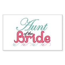 Aunt of the Bride Rectangle Decal
