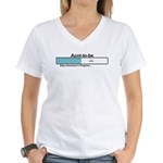 Download Aunt to Be Women's V-Neck T-Shirt