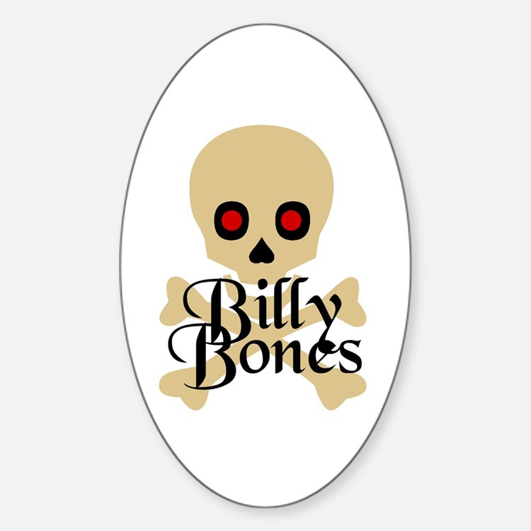 Billy Bones Oval Decal