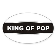 KING OF POP Oval Decal