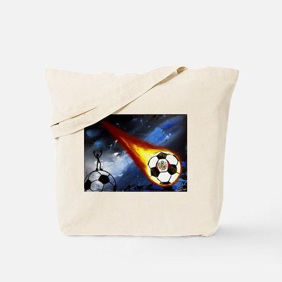 Funny Peru soccer Tote Bag