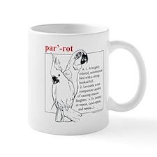 Dictionary Parrot Mug