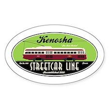Kenosha Streetcar Oval Bumper Stickers