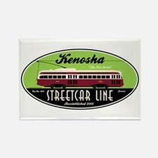 Kenosha Streetcar Rectangle Magnet