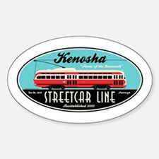 Kenosha Streetcar Oval Decal