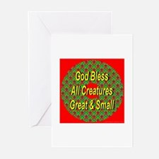 God Bless All Creatures Greeting Cards (Package of