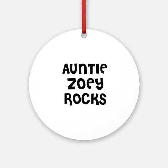 AUNTIE ZOEY ROCKS Ornament (Round)