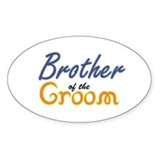 Brother of the Groom Oval Decal