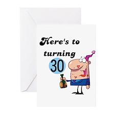 30th Birthday Greeting Cards (Pk of 10)