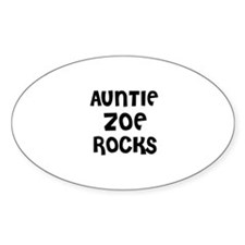 AUNTIE ZOE ROCKS Oval Decal