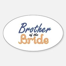 Brother of the Bride Oval Decal