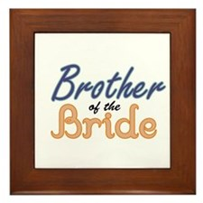 Brother of the Bride Framed Tile
