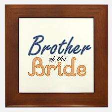 Brother of the Bride Framed Tile