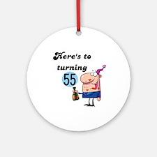 55th Birthday Ornament (Round)