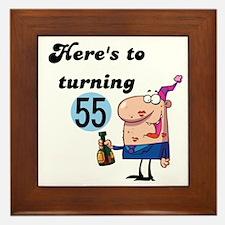 55th Birthday Framed Tile