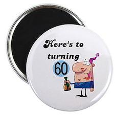 "60th Birthday 2.25"" Magnet (10 pack)"