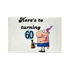 60th Birthday Rectangle Magnet