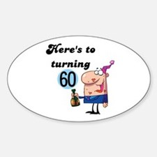 60th Birthday Oval Decal