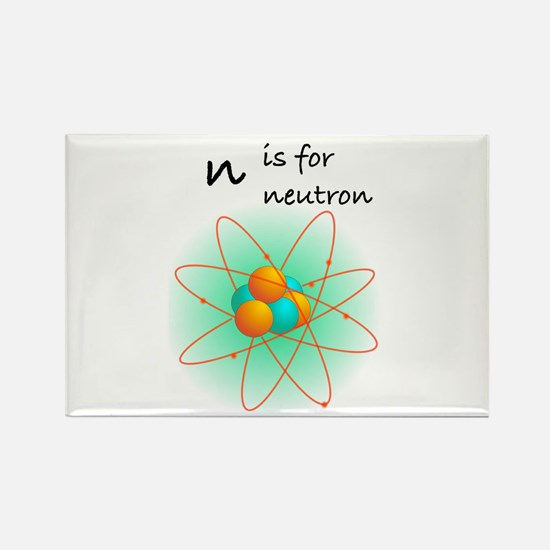 n is for neutron Rectangle Magnet