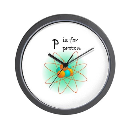 p is for proton Wall Clock