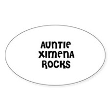 AUNTIE XIMENA ROCKS Oval Decal