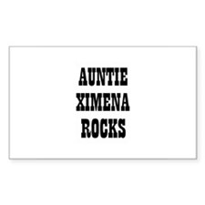 AUNTIE XIMENA ROCKS Rectangle Decal