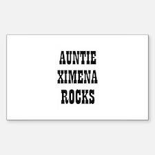 AUNTIE XIMENA ROCKS Rectangle Decal