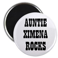 "AUNTIE XIMENA ROCKS 2.25"" Magnet (10 pack)"