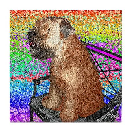 Wheaten Terrier Puppy Tile Coaster
