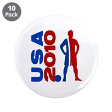"USA 2010 - 3.5"" Button (10 pack)"