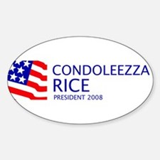 Rice 08 Oval Decal