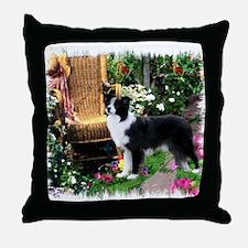 Border Collie Art Throw Pillow