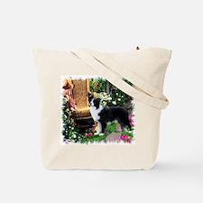 Border Collie Art Tote Bag