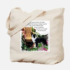 Border Collie Art Tote Bag