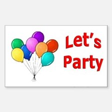 Let's Party Rectangle Decal
