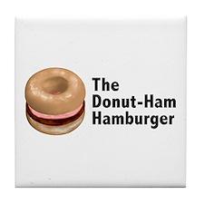 Donut Ham Hamburger Tile Coaster