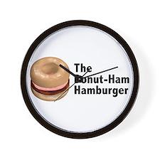 Donut Ham Hamburger Wall Clock