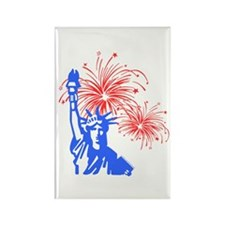 Fireworks Liberty Rectangle Magnet