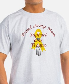 Support Our Troops Army Mom T-Shirt