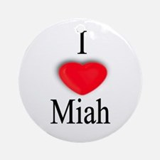 Miah Ornament (Round)