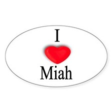 Miah Oval Decal