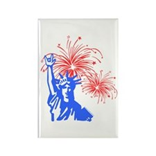 ILY Fireworks Liberty Rectangle Magnet