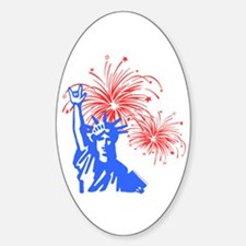 ILY Fireworks Liberty Oval Decal