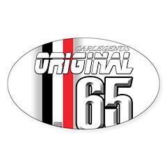 Mustang 65 RWB Oval Sticker (50 pk)